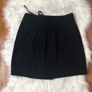 Gap Navy Pleated Tie Skirt